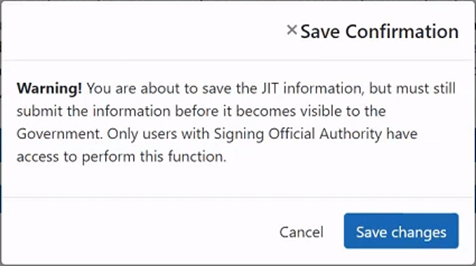 Image of Figure 3: Save Confirmation dialog window