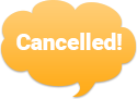 Image that says cancelled